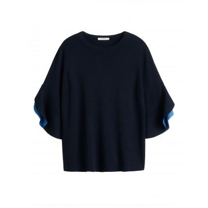 Sweater with wide sleeves - True Blue /