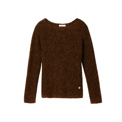 Pullover mit Schlitz - Winter leaf /