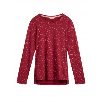 T-Shirt mit Sternmuster - Brick Red /