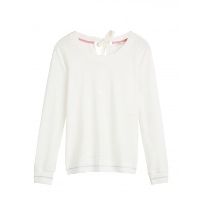 Sweater mit Bindeverschluss - Lilly White /