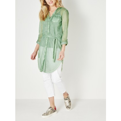 Statement-Bluse - Hedge Green /