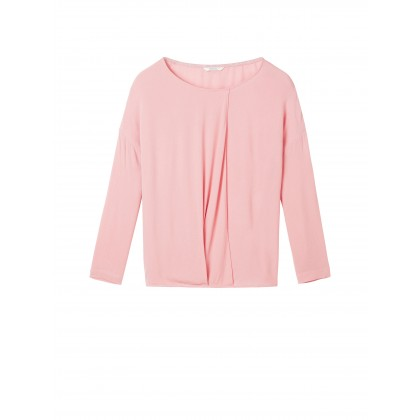 Top with wrap effect - Blush /
