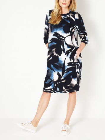Kleid mit Blumenprint - True Blue /