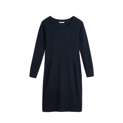Everyday dress with texture - True Blue /