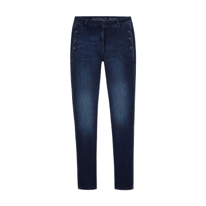 High Waist Skinny - Blue Denim /