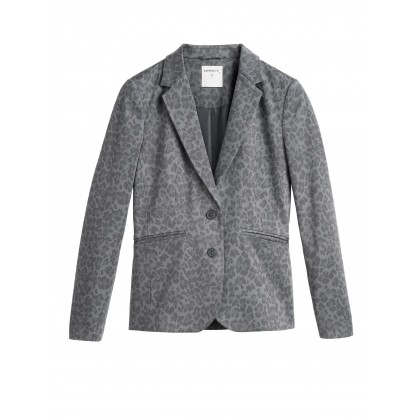 Blazer mit Leopardenprint - Iron /