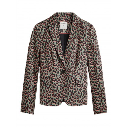 Blazer mit Leopardenprint - Hedge Green /