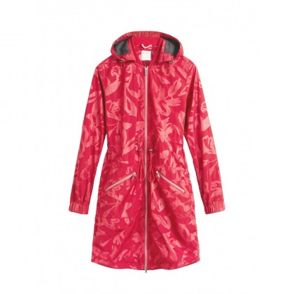 Parka mit Blumenmotiv - Flower Red /