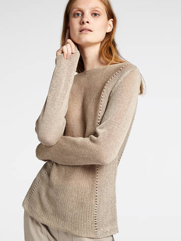Sweater with openwork details /