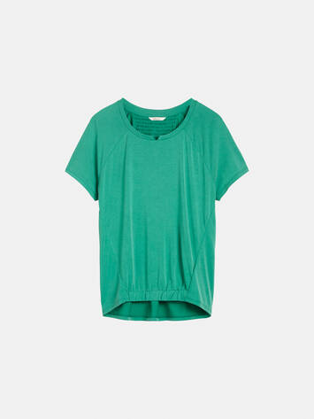 Top mit gesmoktem Saum - Jolly Green /