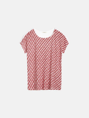 Top mit grafischem Print - Pop Red /