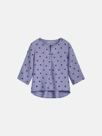 Top mit Punkteprint - Grey Lilac /