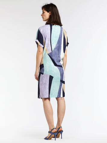 Graphic dress with tie closure - Anise Green /