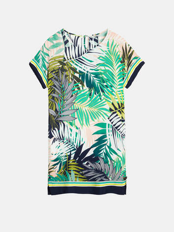 Dress with palm print - Jolly Green /