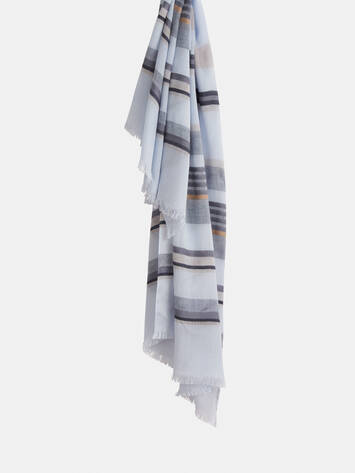 Woven scarf with stripes /