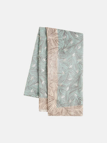 Scarf with botanical print /